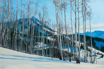 NR13-69 Mt. Crested Butte from Painterboy 20x30 O-C $3400 F WEB