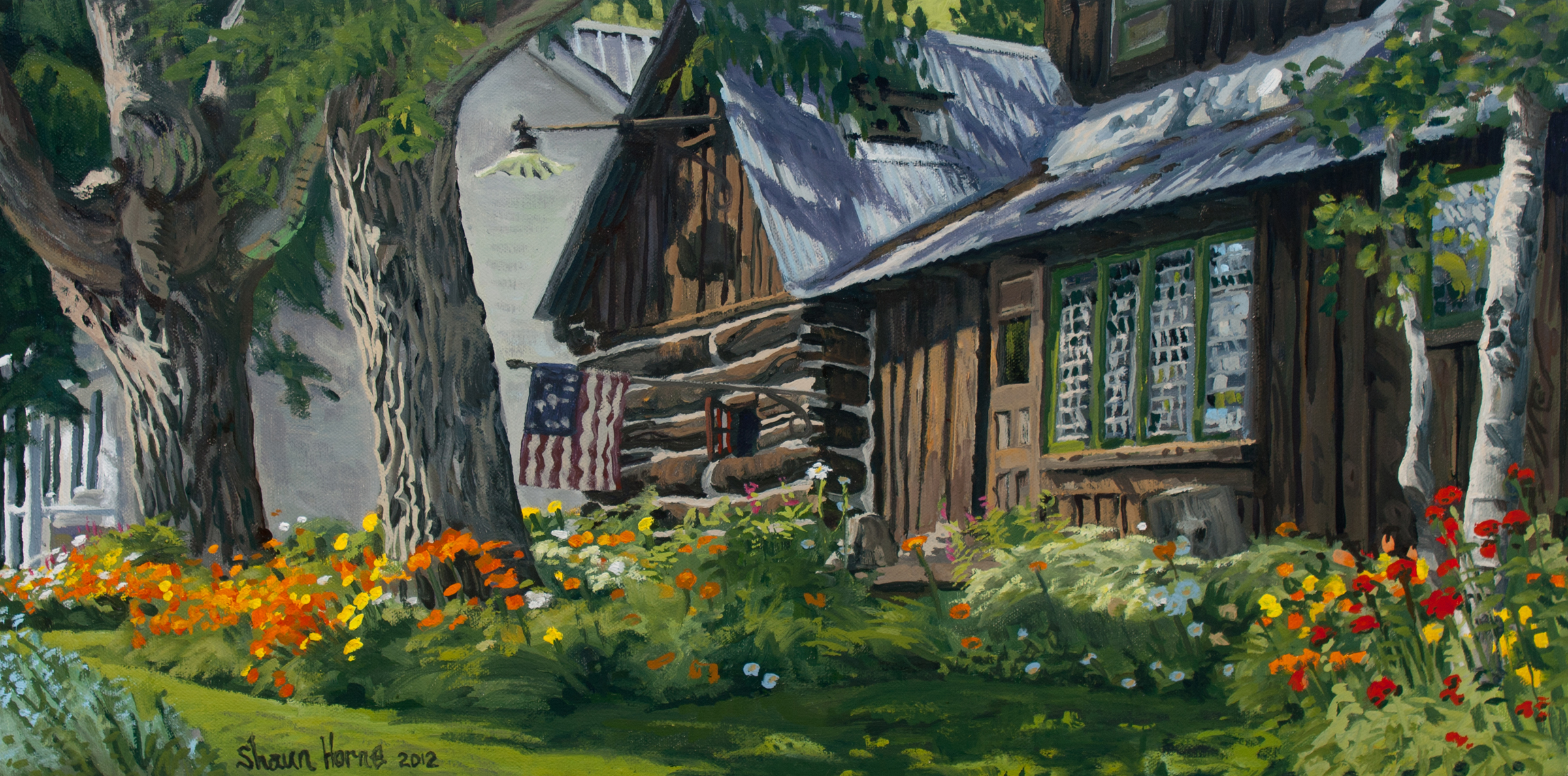 Shaun Horne, Brown House, small, Gilcrease entry, 2012