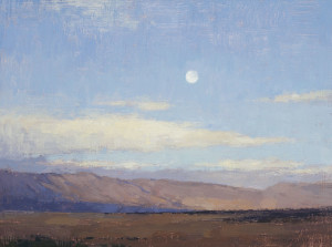 DG15-05 Morning Sky Over the Hills, 12x16 inches, Oil on Linen Panel, small