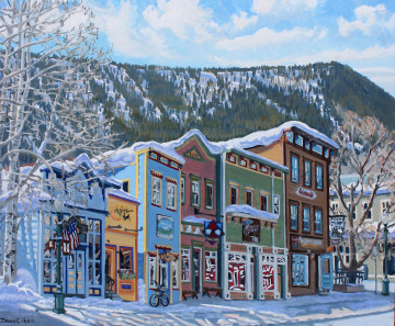 DC15-04 Shady Side, Colorful Buildings March 2015 30x36 OC $4255F