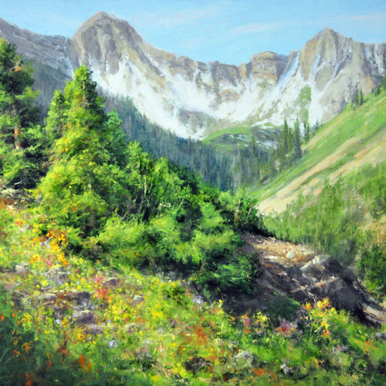 CST16-04 stjohn.Bristlecones and Wildflowers.30X40 oil.8200 2 WEB