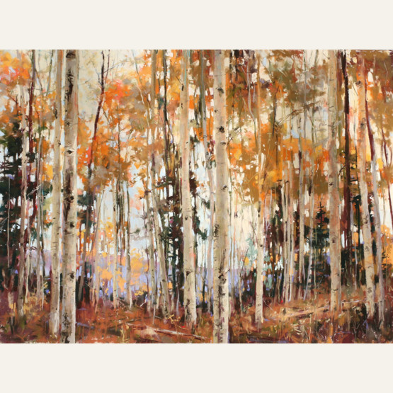 CT16-08 Aspens of Fall 18x24 pastel $5500 WEB