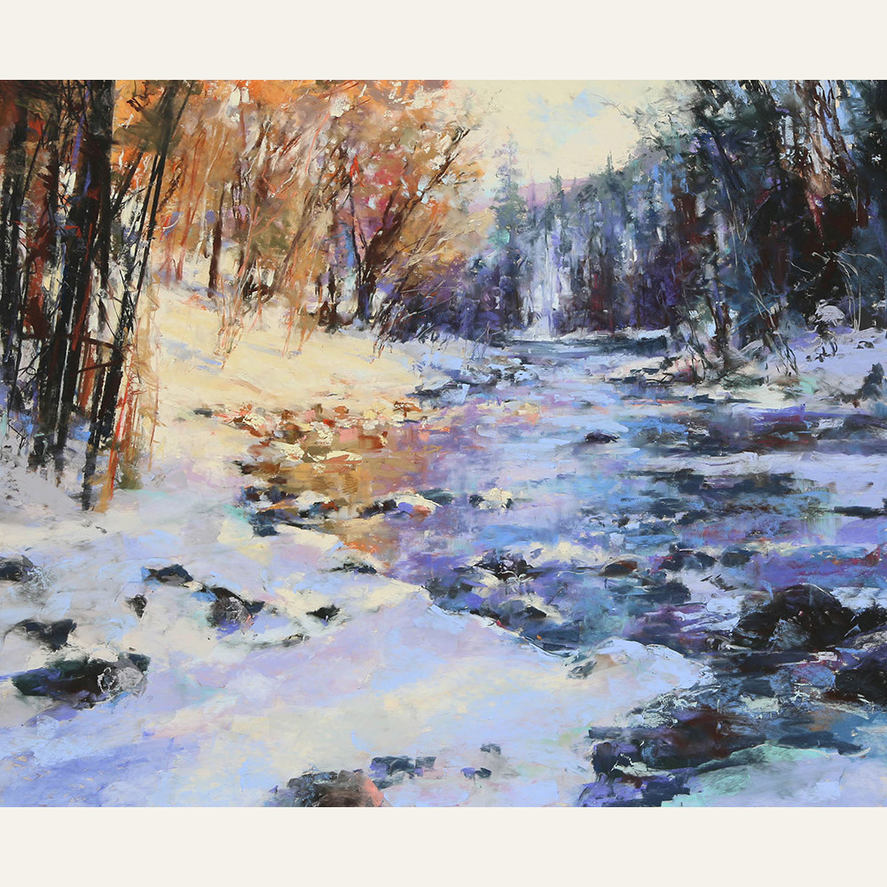 CT16-10 River of Shadows and Light 18x22 pastel $4800 WEB