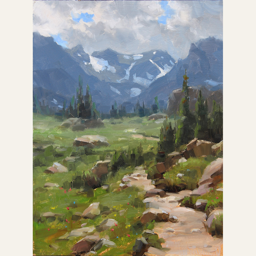 DSA16-16 Into the Rockies (study) 16x12 oil 1,600 F WEB