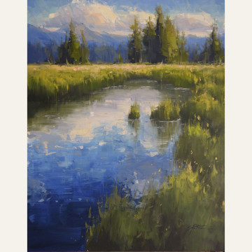 SP16-13 Summer Reflections 20x16 oil 1,850 F WEB SOLD