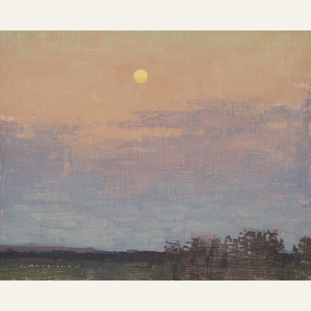 Yellow Moon at Dusk, 8x10 inches, oil on linen panel copy WEB