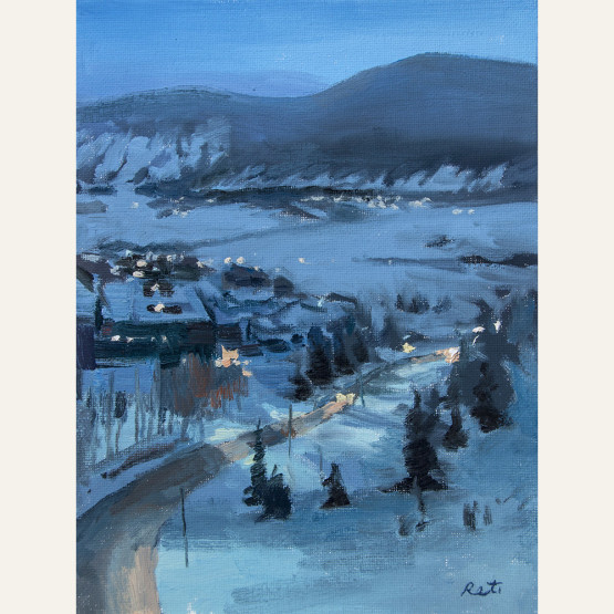 NR17-02 Town Lights form Mt. CB 8x6 oil 750 F WEB