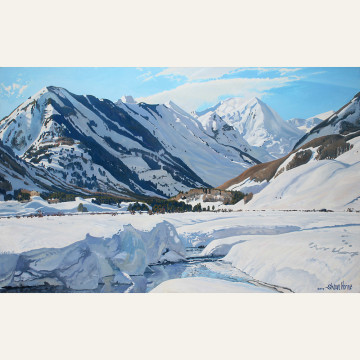 SH17-03 Slate River, Big Snow 30x48 oil 7,200 F WEB