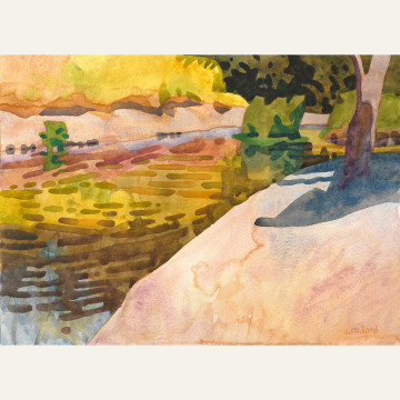 CL17-02 Creekside Mustard 11x15 watercolor 1800 F WEB