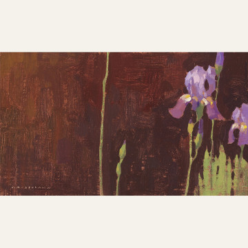 Iris Composition, Horizontal, 7x12 inches, Oil on Linen Panel copy