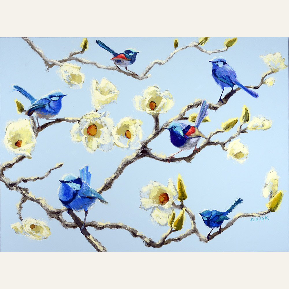 SN17-01 Blues Brothers (in a Magnolia) acrylic 30x40 7,200 F WEB SOLD