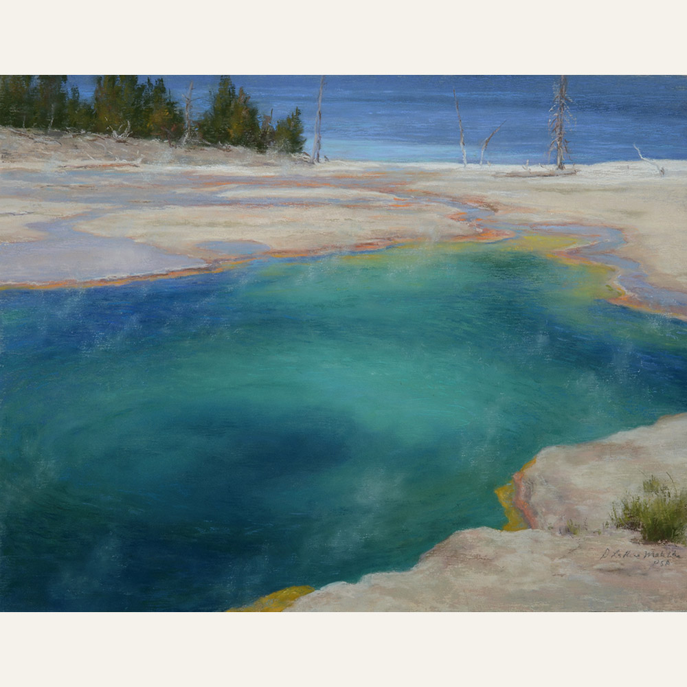 DLM17-01 Across the Abyss Yellowstone National Park 11x14 pastel 2500 F WEB