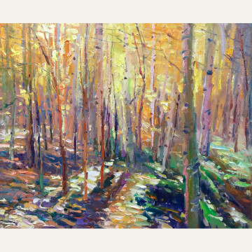 DSL17-03 Forest Interior - Poem of Color 24x30 oil 6500 F copy