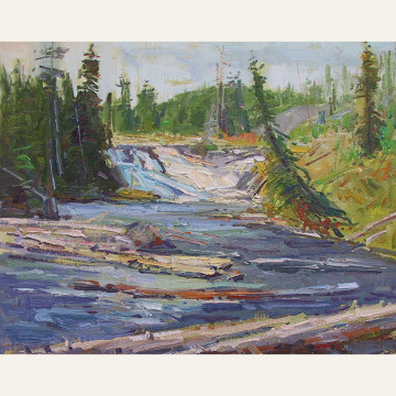 DSL17-07 Lower Yellowstone Falls 16x20 oili 2800 F copy
