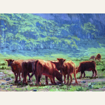 Lazy Graze of Summer, 18x24, oil on linen copy