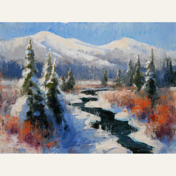JRM17-02 Winding Through Winter 12x16 oil 1,700 F WEB