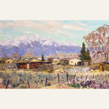 WG17-12 Mt. Blanca From Costilla, N.M. 24x36 oil 15,500 F WEB