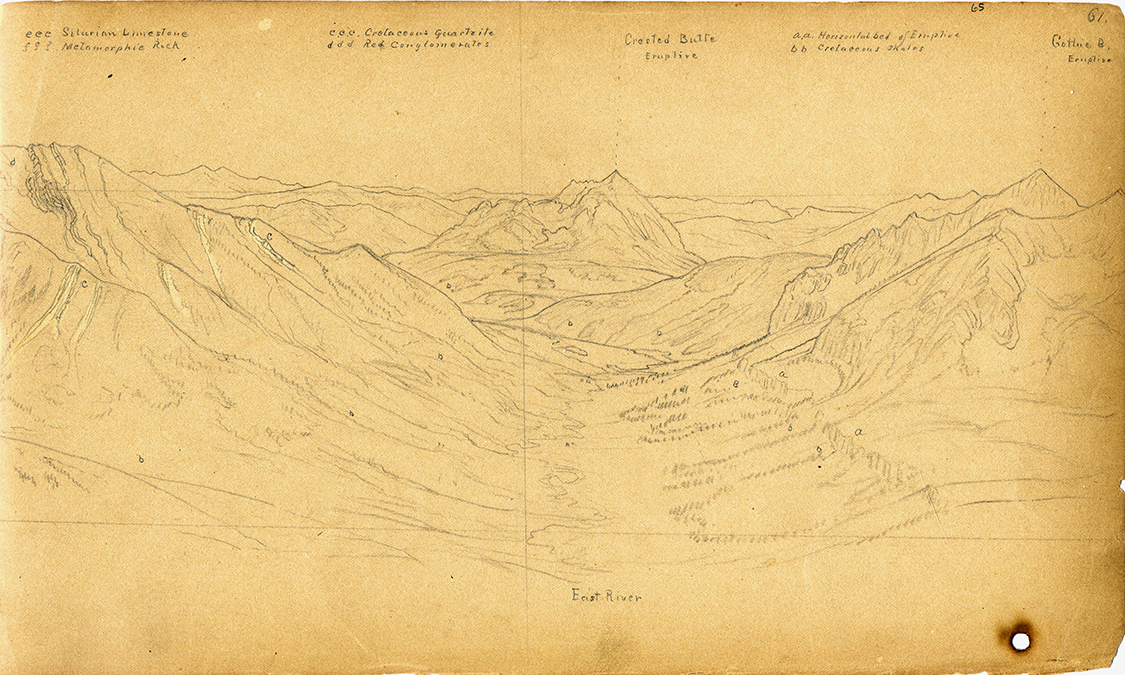 74480047_9x15 William Henry Holmes, crested butte and east river, sketchbook drawing