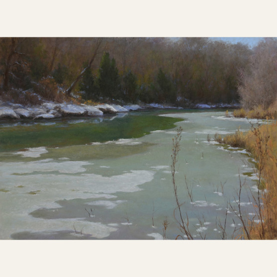 DLM18-02 Thin Ice 12x16 pastel 2900 F WEB